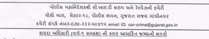 Gujarat CID officer Bharti 2021