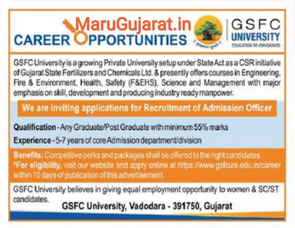GFSC University Recruitment 2021